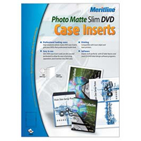 Meritline Products 161-012 Photo Matte Slim DVD Case Inserts 50-Pack
