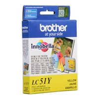 Brother LC51Y Yellow Inkjet Cartridge