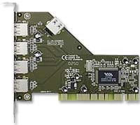 Syba PCI USB 2.0 4+1 Shared Port Controller Card