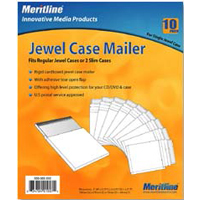 Meritline Products CD Jewel Case Mailer 10-Pack