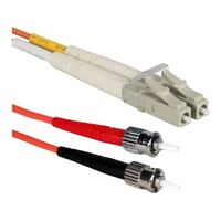 QVS LC to ST Multimode Fiber Duplex Patch Cable 16.4 Foot