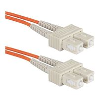 QVS SC to SC Multimode Fiber Duplex Patch Cable 16.4 Foot