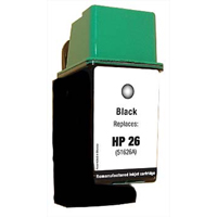 Micro Center Remanufactured HP 26 Black Inkjet Cartridge (51626A)