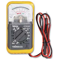 Velleman Analog Multimeter with Holster and Battery Test