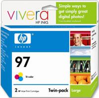 HP HP 97 Tri-color Ink Cartridge (C9349FN) 2-Pack