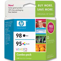 HP HP 95/98 Tri-color/Black Ink Cartridge (CB327FN) 2-Pack