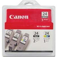 Canon BCI-24 Black/Color Ink Cartridge 3-Pack