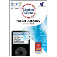 JC Research Merriam-Webster's Pocket Dictionary for your iPod