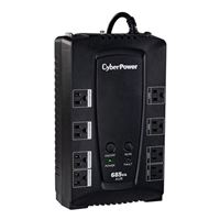 CyberPower Systems AVR Series 685VA UPS with AVR, 8 Outlets, USB/Serial Ports, and RJ45/Coax Protection