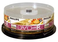 Philips LightScribe DVD-R 16x 4.7GB/120 Minute Disc 25-Pack Spindle