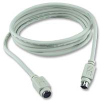 QVS PS/2 Male to PS/2 Female Keyboard/Mouse Cable 10 ft. - Beige