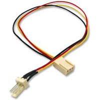 Link-Depot Power Supply 3-pin Fan Extension Cable 12""