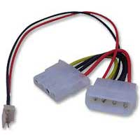 Link-Depot Power Supply 4-pin to 3-pin Fan Adapter