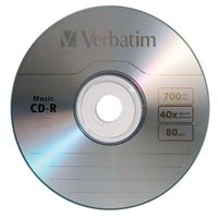 Verbatim CD-R Music 40x 700MB/80 Minute Disc 25-Pack Spindle