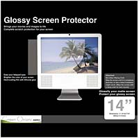 Green Onions Supply Glossy Screen Protector with Wiping Cloth for 14' LCD Screen