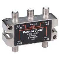 Paladin Tools 4-Way Satellite TV Splitter