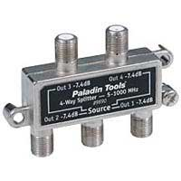 Paladin Tools 4-Way Cable TV Splitter