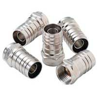 Paladin Tools RG6 Quad Coaxial Cable Hex Crimp Connectors, 10 Pack