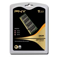 PNY Optima Memory 1GB DDR-333 (PC-2700) SO-DIMM Laptop Memory Module