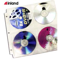 Inland CD/DVD Binder Sleeves