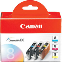 Canon CLI-8 Value Pack Color Cartridges 3-Pack