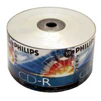 Philips CD-R 52x 700MB/80 Minute Disc 50-Pack