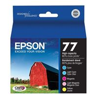 Epson T077920 Claria Hi Capacity Ink Cartridge Color Multi Pack