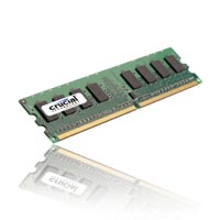Crucial 1GB DDR2-667 (PC-5300) CL5 Desktop Memory Module