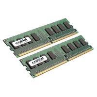 Crucial 2GB DDR2-667 (PC2-5300) CL5 Dual Channel Desktop Memory Kit (Two 1GB Memory Modules)