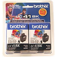 Brother LC41BK Black Ink Cartridge Value Pack