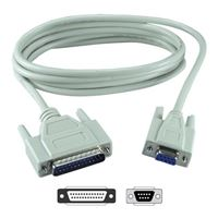 QVS DB-9 RS-232 Serial Female to DB-25 RS-232 Serial Male Adapter 6 ft. - Beige