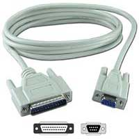 QVS Serial Modem Cable 10 Foot