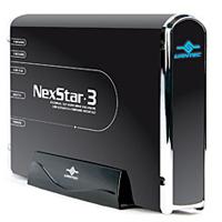 """Vantec NexStar 3 3.5"""" SATA to USB/eSATA/FireWire Hard Drive Enclosure - Onyx Black"""