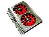 """Logisys 3.5"""" Aluminum Dual-Fan Hard Drive Cooler"""