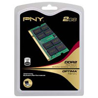 PNY Optima 2GB DDR2-667 (PC-5300) SO-DIMM Laptop Memory Module
