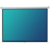 "Elite Screens 84"" Manual Series Projection Screen"