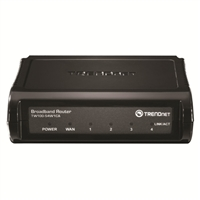 Trendnet Cable/DSL 4-Port Broadband Router - Black