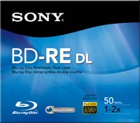 Sony BD-RE DL 2x 50GB Disc