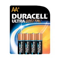 Duracell Ultra Alkaline AA Battery 4 Pack