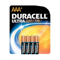 Duracell Ultra Alkaline AAA Battery 4 Pack