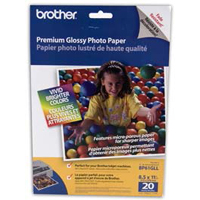 "Brother 8.5""x11"" Premium Glossy Photo Paper 20-Sheets"