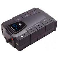 CyberPower Systems Intelligent LCD 600VA UPS with 8 outlets, USB Port, and RJ45 Protection