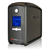 CyberPower Systems Intelligent LCD 850VA UPS with AVR, 9 Outlets, USB/Serial Ports, and RJ45/Coax Protection