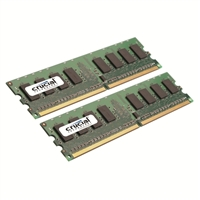 Crucial 4GB DDR2-667 (PC-5300) CL5 Desktop Memory Kit (Two 2GB Memory Modules)