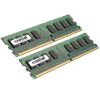 Crucial 4GB DDR2-800 (PC2-6400) CL6 Dual Channel Desktop Memory Kit (Two 2GB Memory Modules)