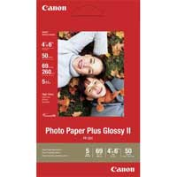 "Canon Photo Paper Plus Glossy II 4""x6"" 50 Sheets"