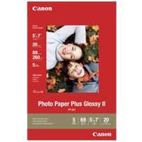 "Canon Photo Paper Plus Glossy II 5""x7"" 20 Sheets"
