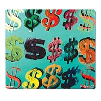 Microthin Products Dollar Signs by Warhol Mouse Pad