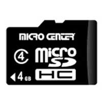 Micro Center 4GB Class 4 Micro Secure Digital High Capacity (Micro SDHC) Flash Media Card
