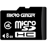 Micro Center 8GB Class 4 Micro Secure Digital High Capacity (Micro SDHC) Flash Media Card